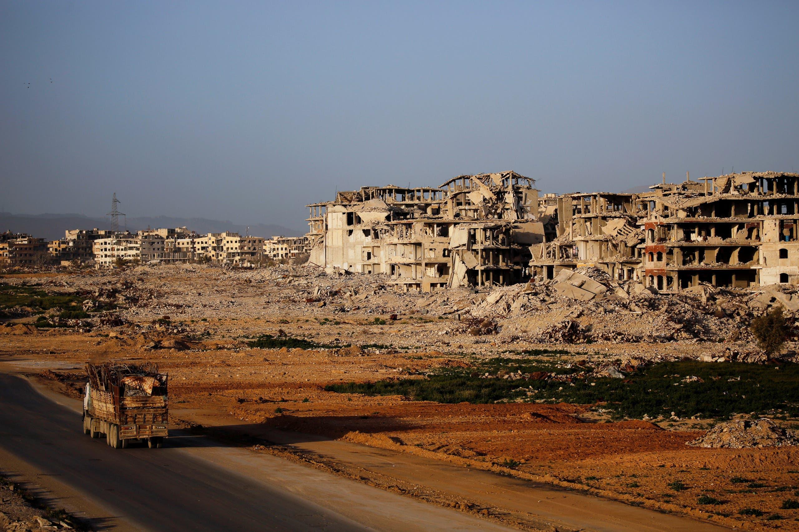 الدمار في الغوطة الشرقية بريف دمشق
