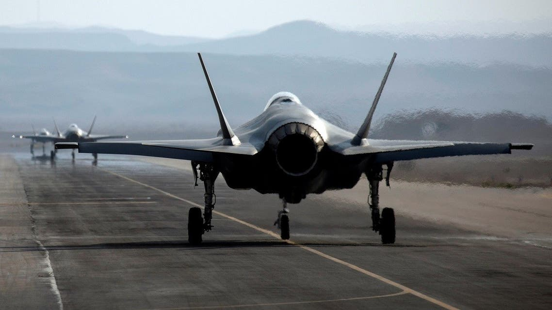 An Israeli F35 aircraft is seen on the runway during Blue Flag, an aerial exercise hosted by Israel with the participation of foreign air force crews, Nov. 11, 2019. (Reuters)