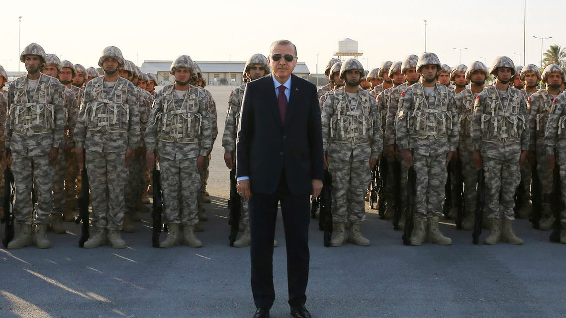 Turkey's President Recep Tayyip Erdogan with Turkish Armed Forces in Doha, Qatar. (File photo: AP)