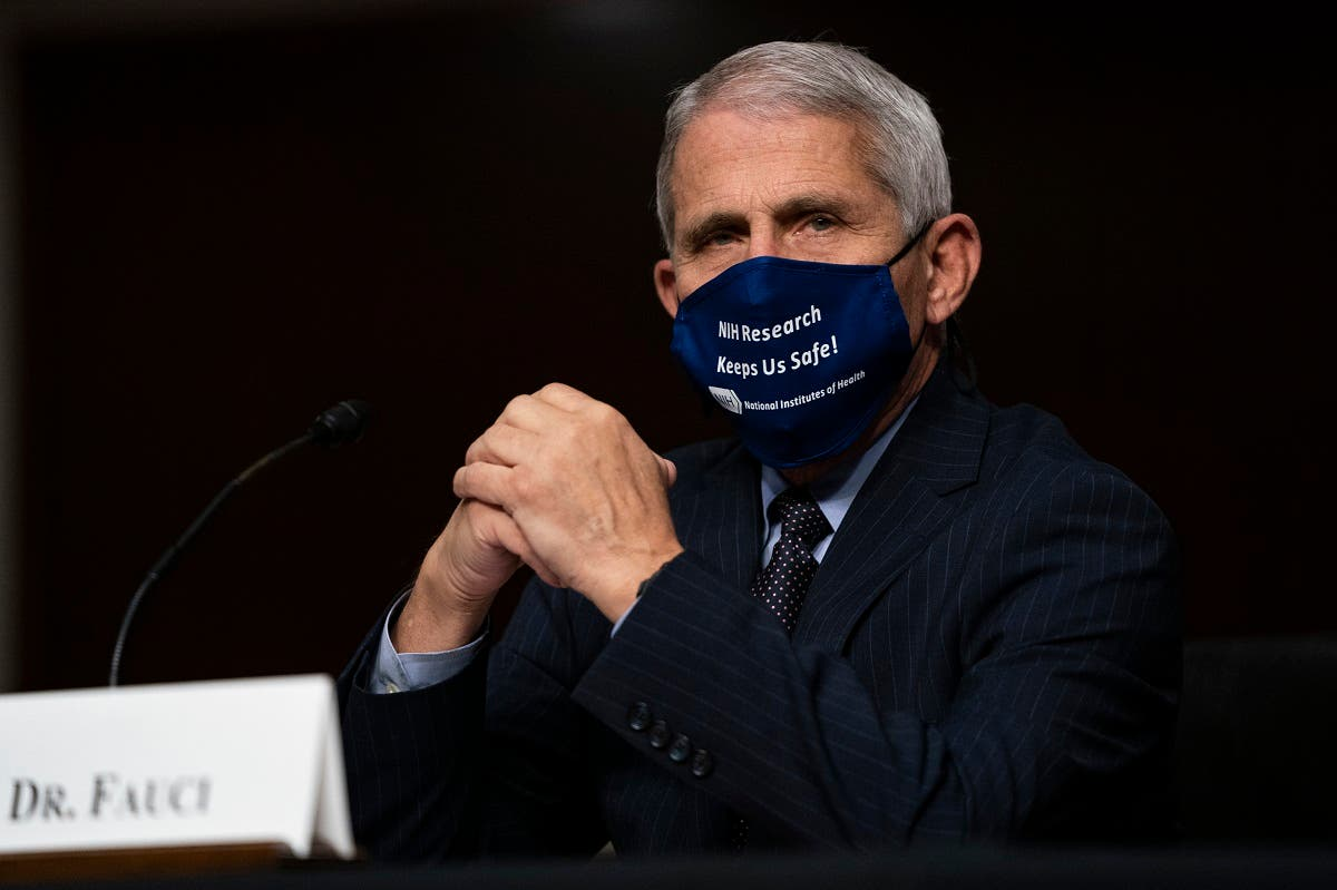 Dr. Anthony Fauci, Director, National Institute of Allergy and Infectious Diseases, during a House Select Subcommittee on the Coronavirus Crisis hearing in Washington, September 23, 2020. (AFP)