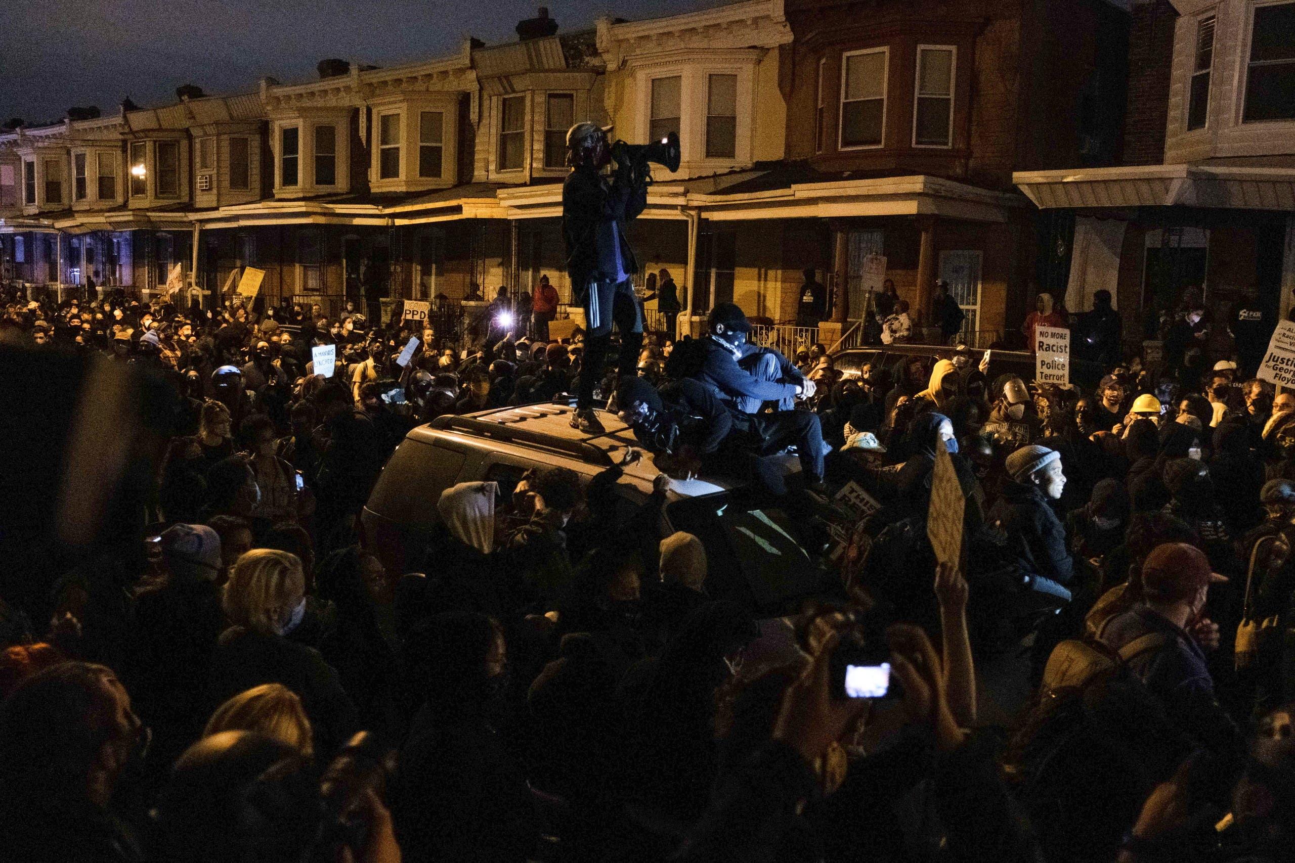 من الاحتجاجات في فيلادلفيا