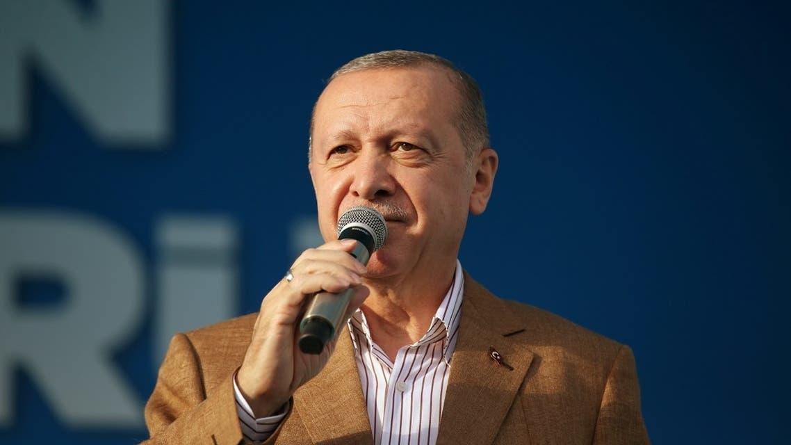 Turkish President Recep Tayyip Erdogan speaks during a ceremony in Malatya, Turkey October 25, 2020. (Reuters)