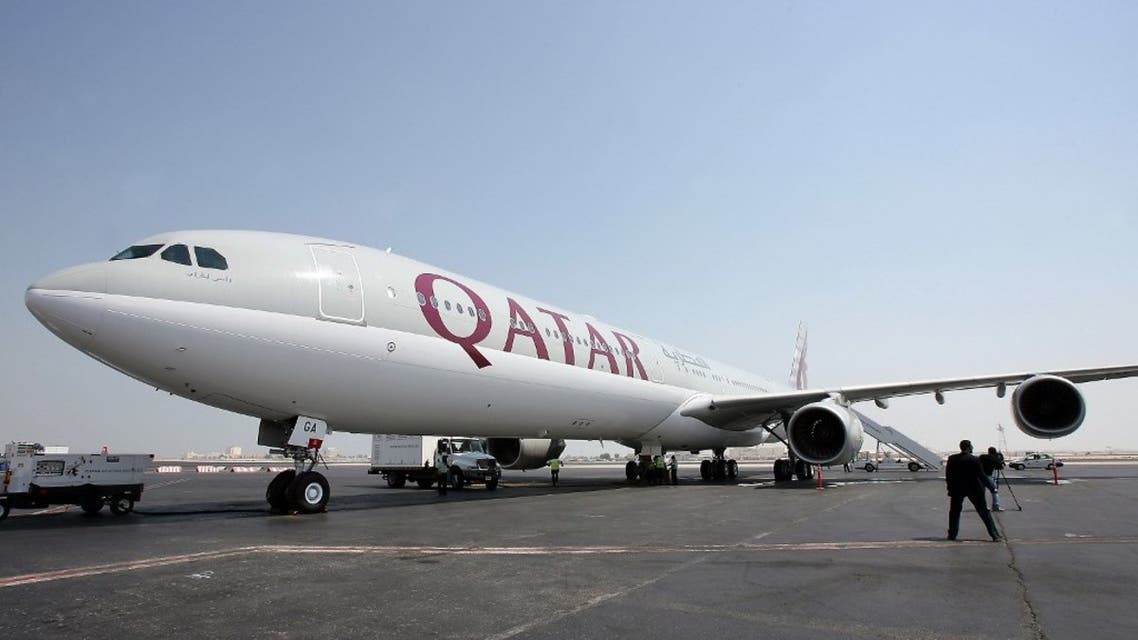 A new Qatar Airways Airbus A340-600 sits on the tarmac at Doha airport. (File photo: AFP)