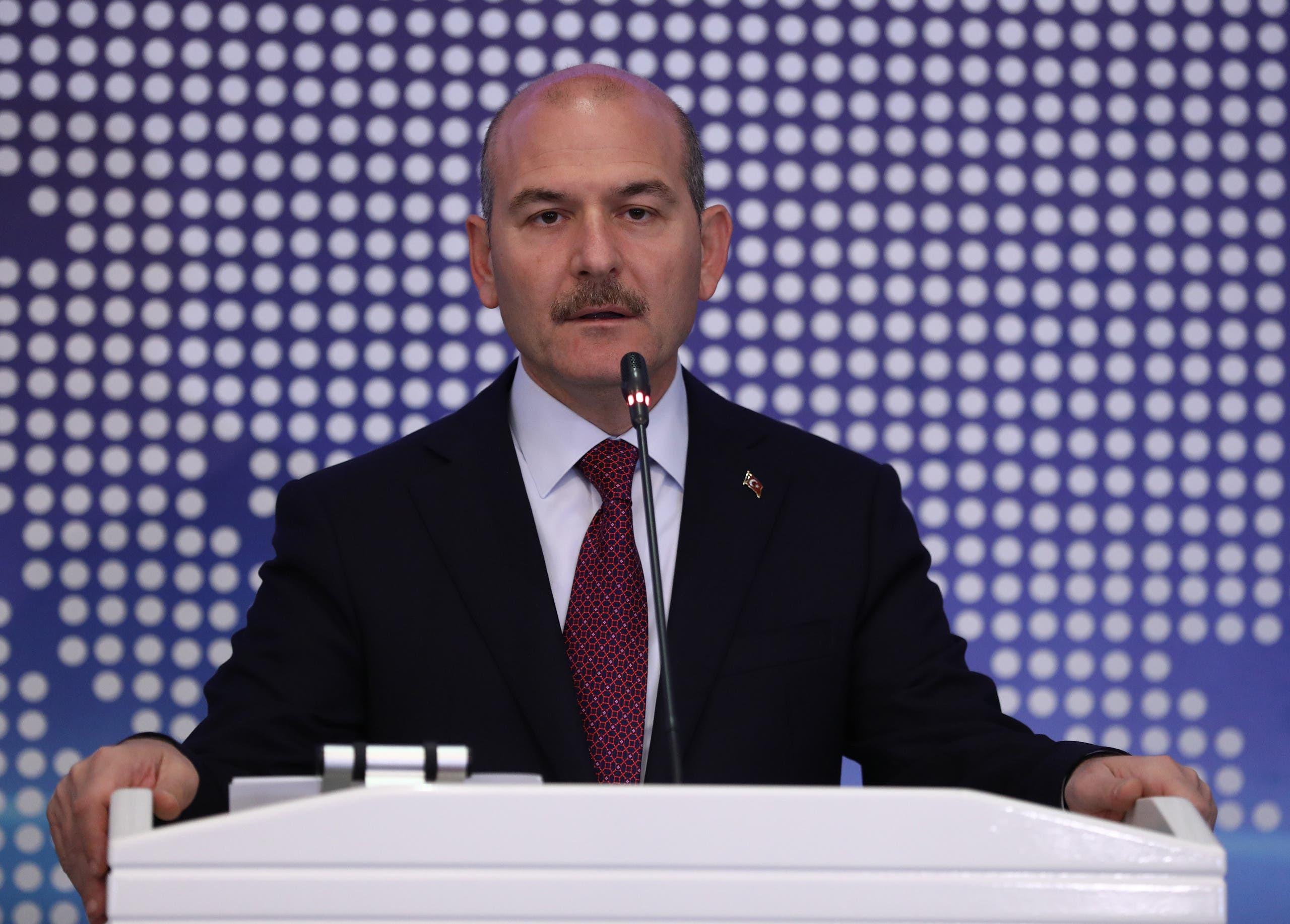 وزير الداخلية التركي سليمان صويلو (أرشيفية من فرانس برس)