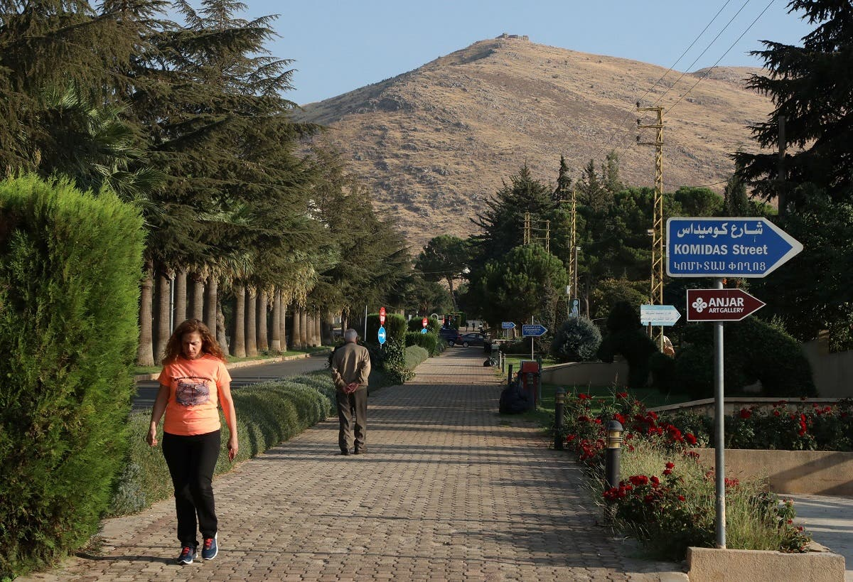 People walk along a street in Lebanon's largely Armenian town of Anjar, Lebanon October 21, 2020. Picture taken October 21, 2020. (Reuters/Mohamed Azakir)