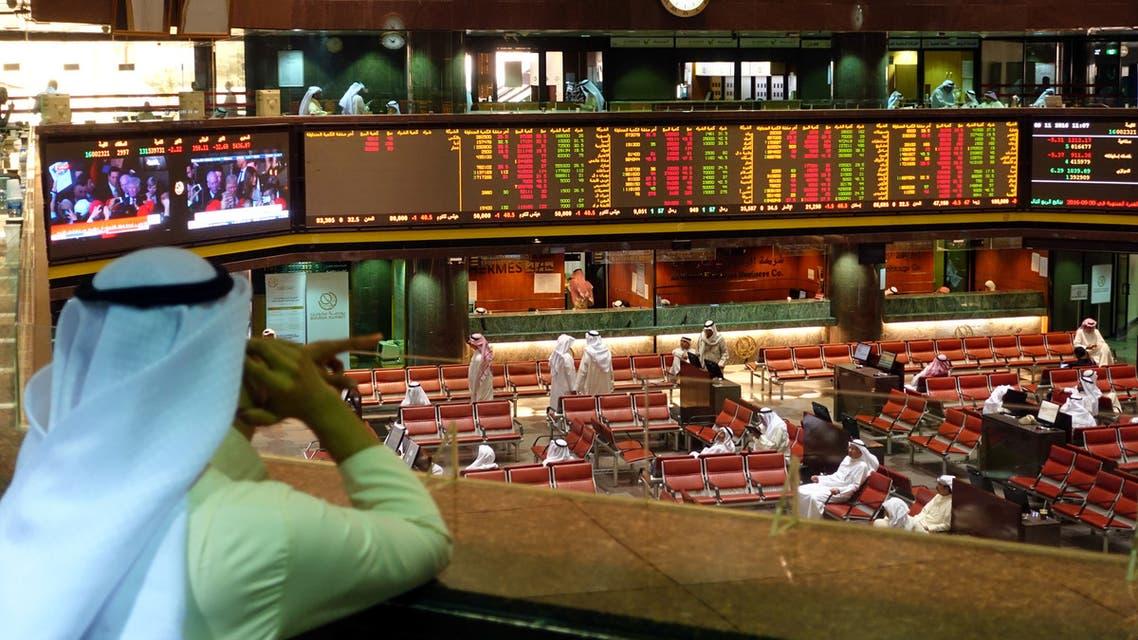 صورة من إحدى أسواق الأسهم الخليجية