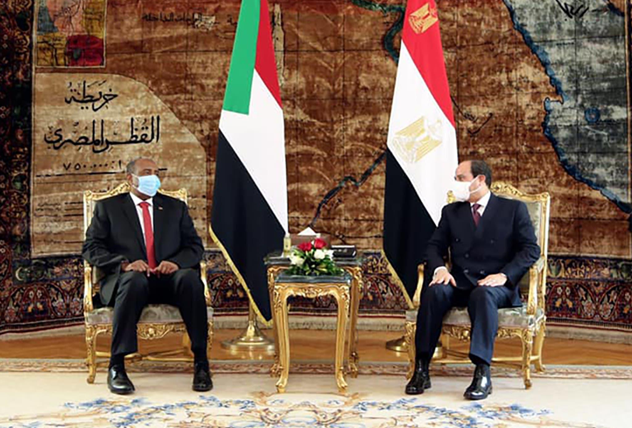 من لقاء البرهان بالسيسي في القاهرة الأسبوع الماضي