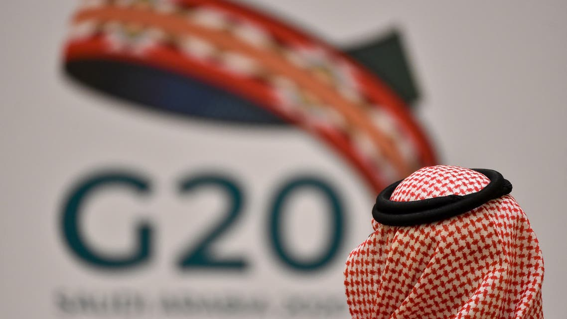 An unidentified guest attends a G20 meeting in the Saudi capital Riyadh on February 23, 2020. (File photo: AFP)