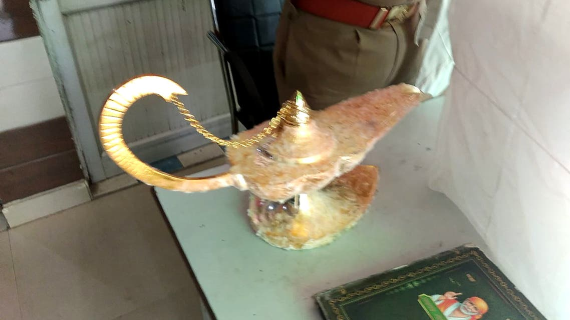 A lamp which was allegedly sold for $93,000 with the claim that it had magic powers. (AFP)