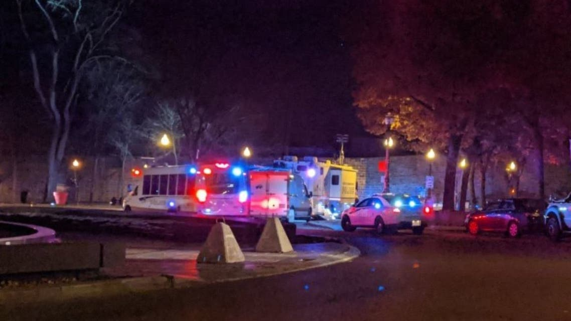 The scene in Quebec City after reports of multiple stabbings. (Twitter)