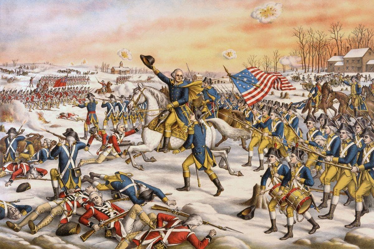 لوحة تجسد احدى المعارك بحرب الإستقلال الأميركية