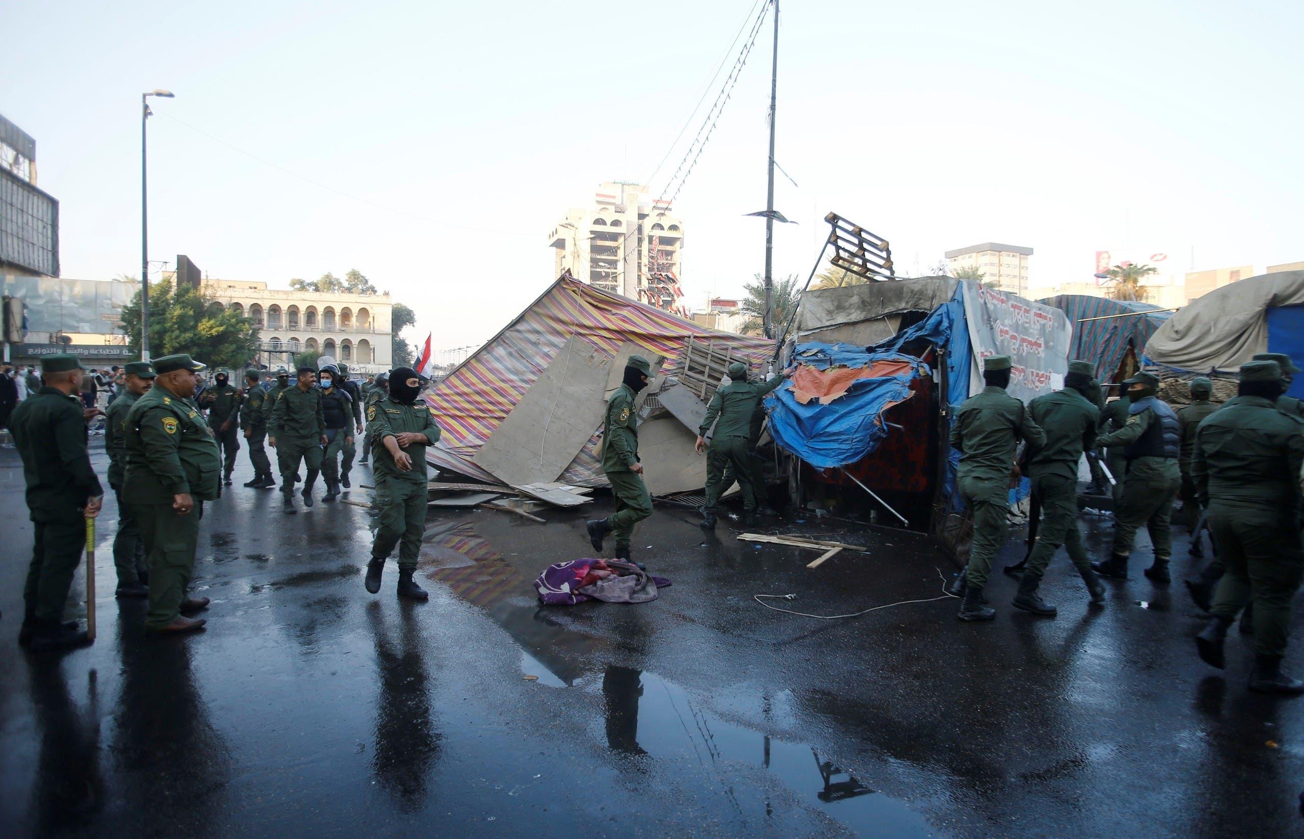 من فض اعتصام بغداد السبت