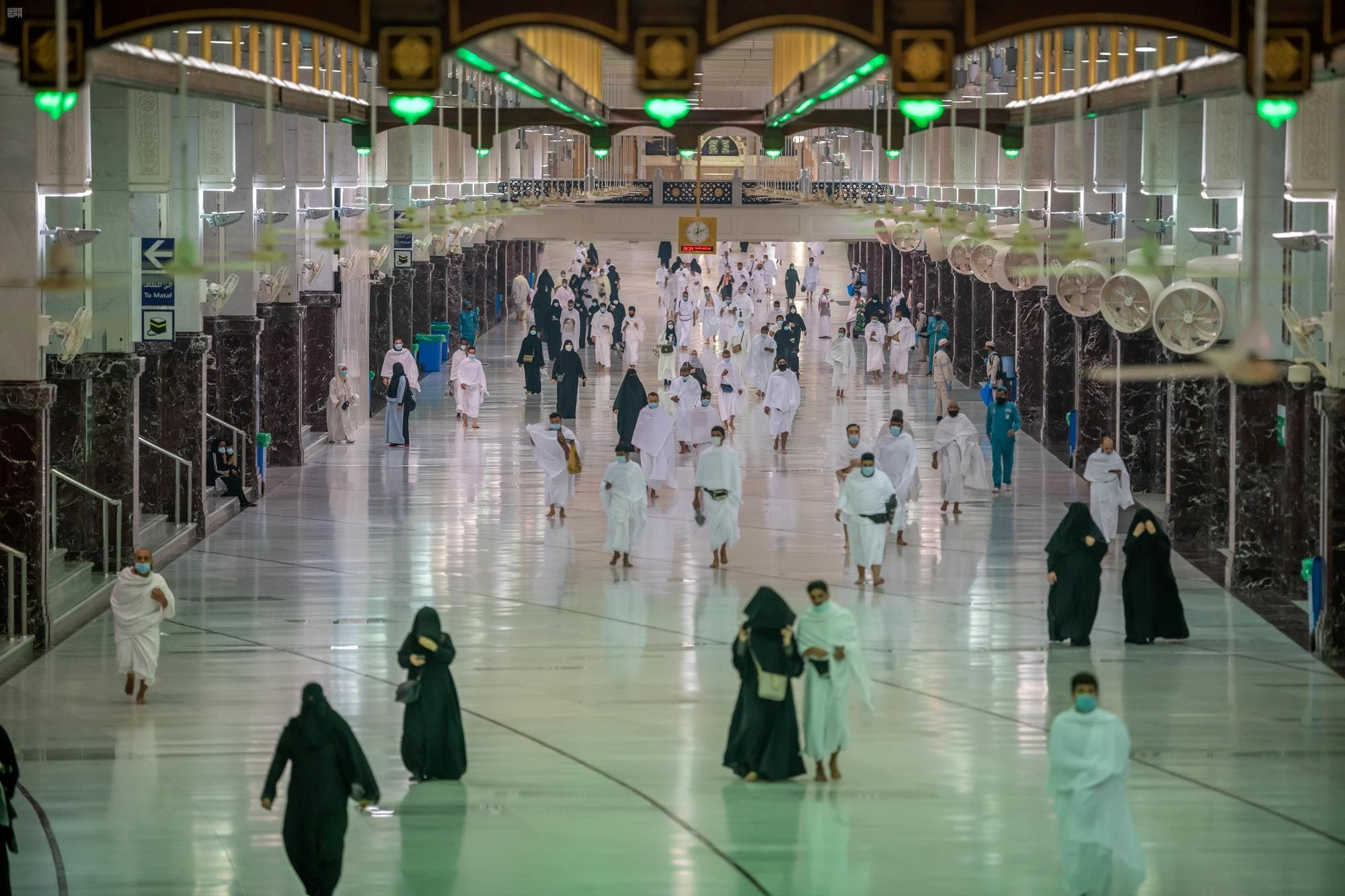 Muslims perform Umrah at the Grand Mosque after Saudi authorities eased the coronavirus disease (COVID-19) restrictions, in the holy city of Mecca. (Reuters)