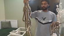 شاب سعودي يهوى تربية التماسيح والثعابين.. وهذه قصته