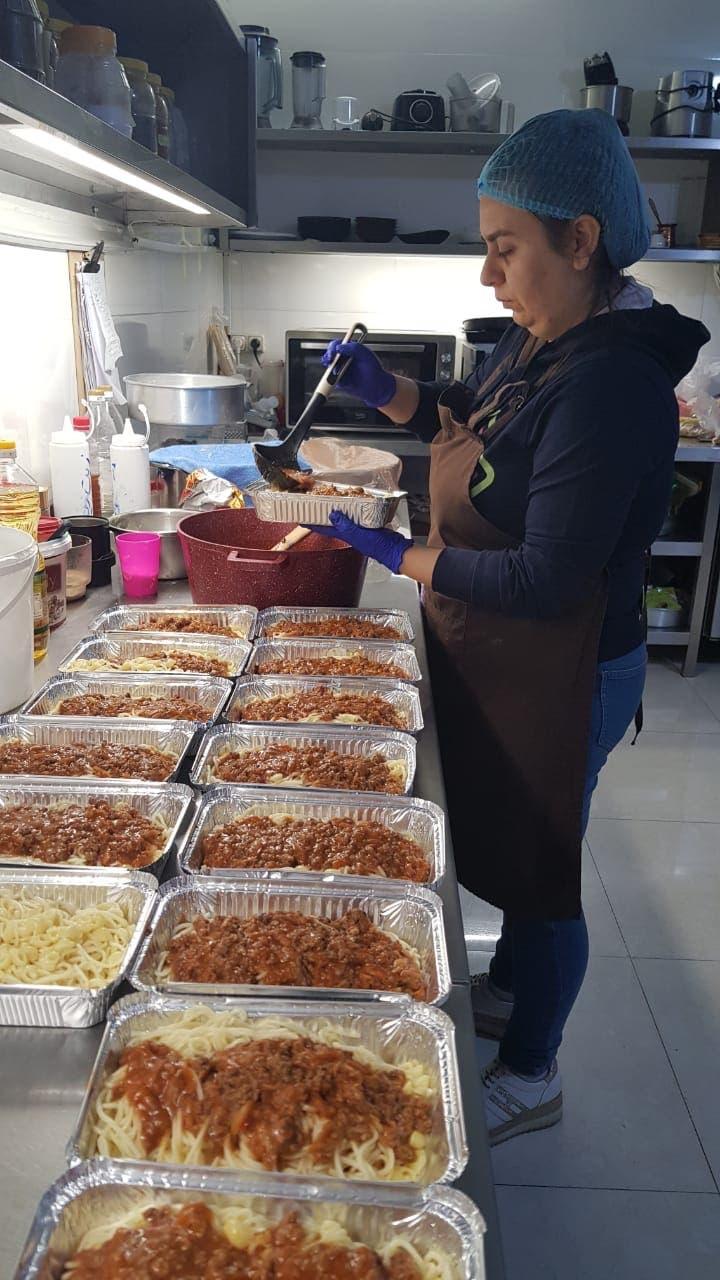 Meals being prepared at the Merhatsy Bakery. (Joe el Khal)