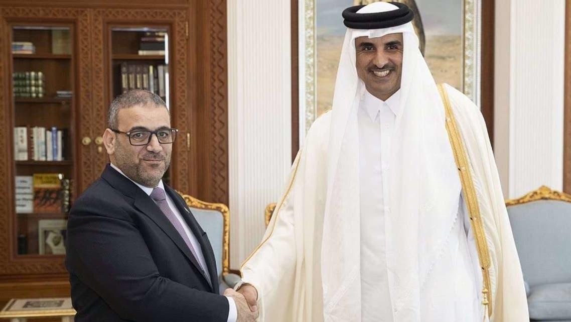 خالد المشري مع أمير قطر