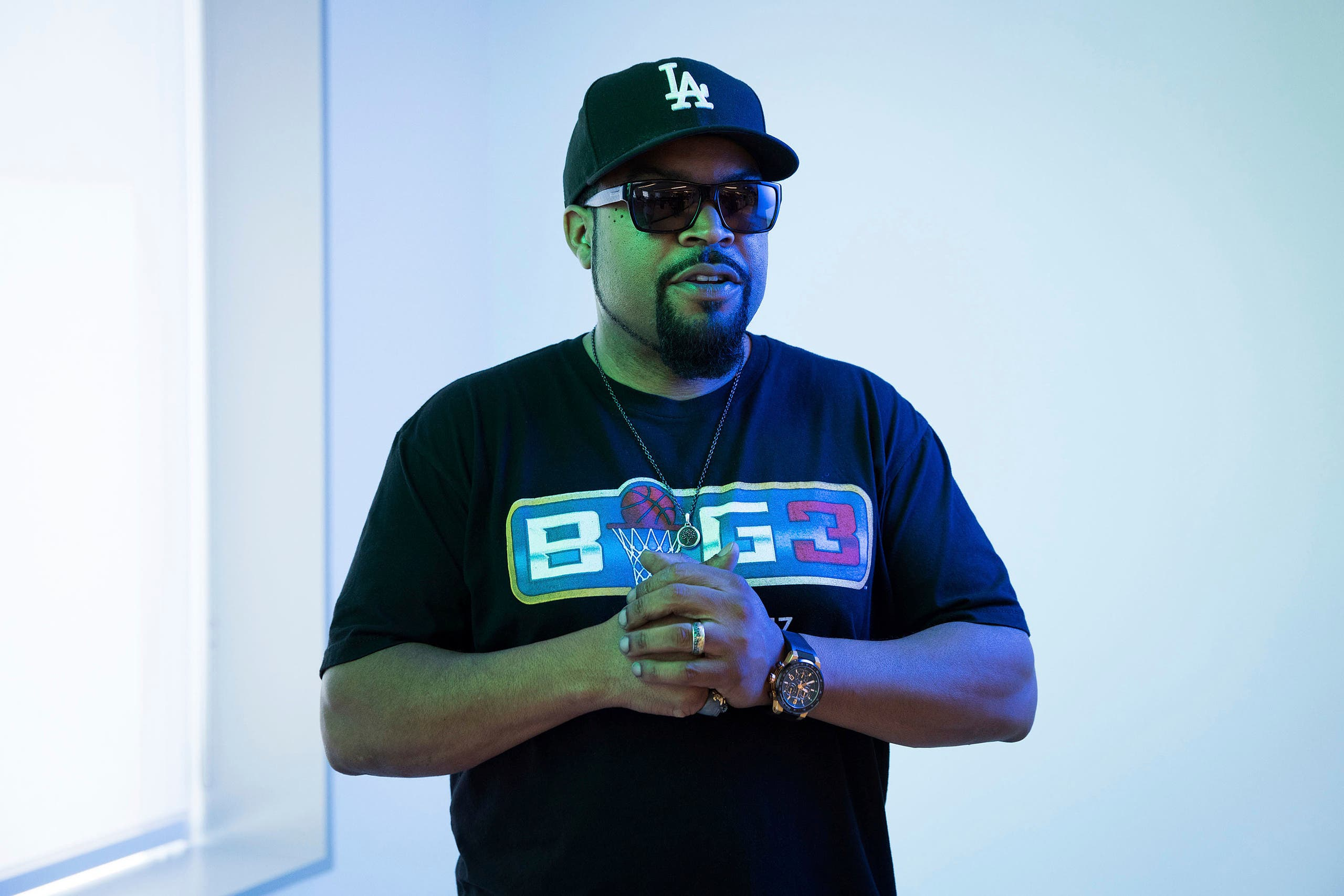 In this June 20, 2017 photo, rapper and actor Ice Cube poses for a portrait. (AP)