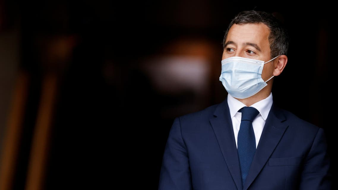 French Interior Minister Gerald Darmanin looks on ahead of a visit of the French President Emmanuel Macron. (File photo: Reuters)
