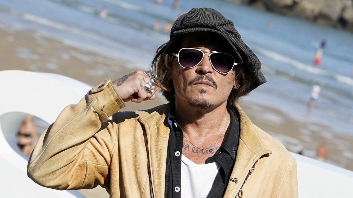 "Actor and producer Johnny Depp takes part in a photocall to promote the documentary ""Crock Of Gold: A few rounds with Shane Macgowan,"" at the San Sebastian Film Festival, in San Sebastian, Spain, September 20, 2020. (Reuters/Vincent West)"