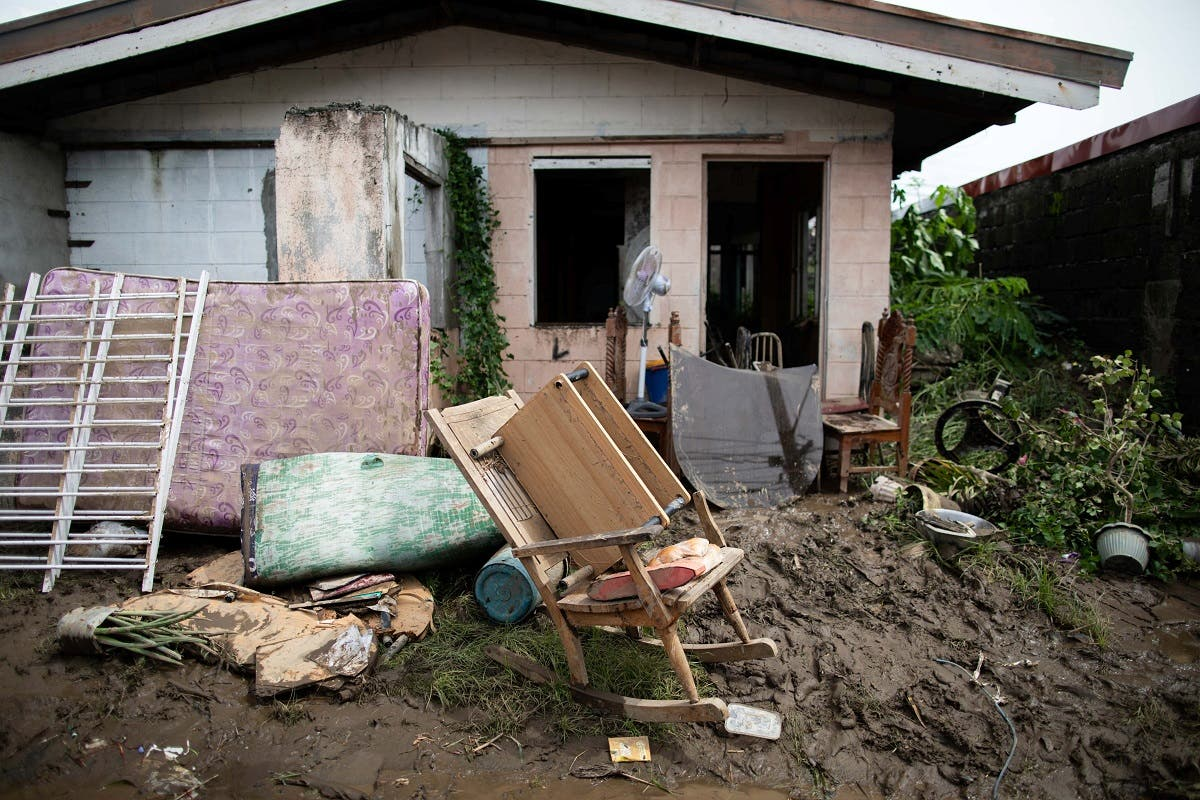 Furniture is left to dry outside a house following floods caused by Typhoon Goni, in Tierra Verde subdivision, Batangas City, Philippines,on  November 2, 2020. (Reuters)