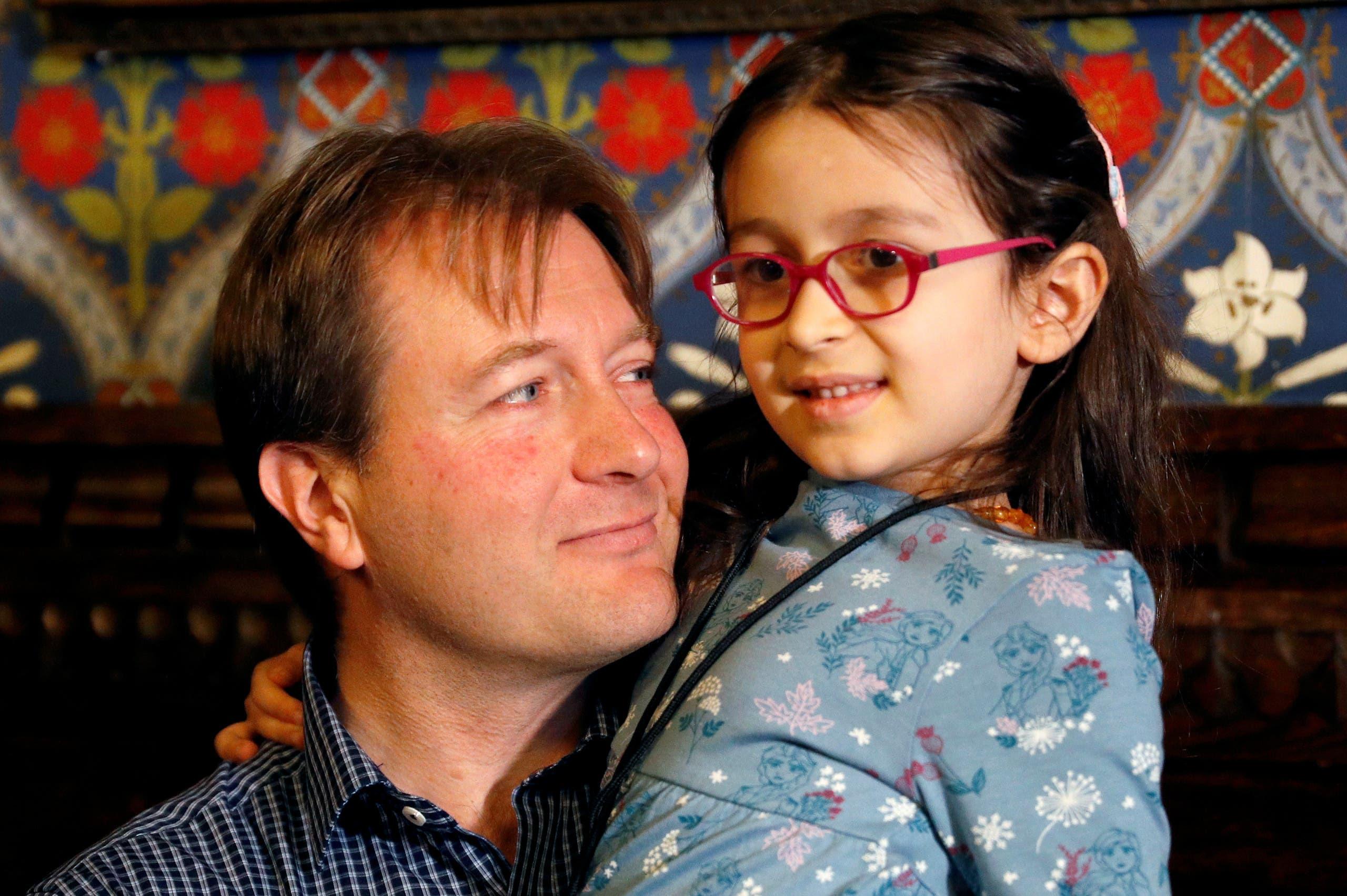ریچارد راتکلیف و دخترش گابریلا