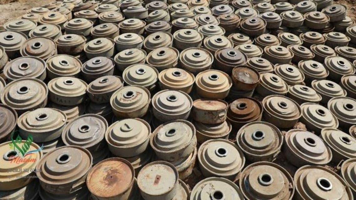 مسام اليمن تفكيك ألغام حوثية الألغام الحوثية الحوثي الحوثيين