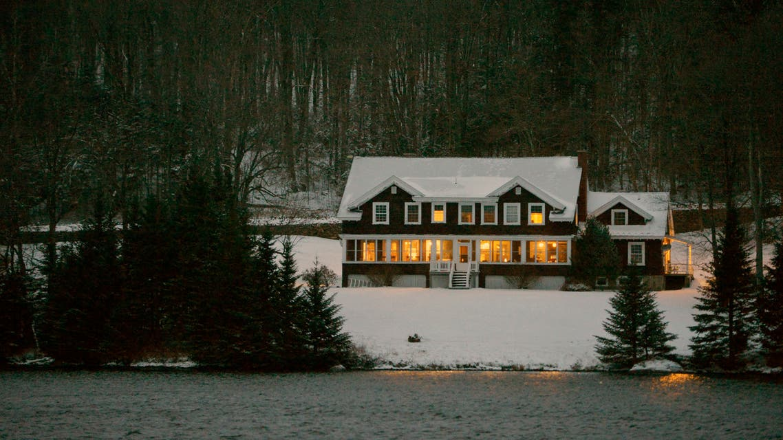 The Hale House at the Balsams resort where midnight voting will take place as part of the first ballots cast in the US Presidential Election, in Dixville Notch, New Hampshire on November 2, 2020. (AFP)