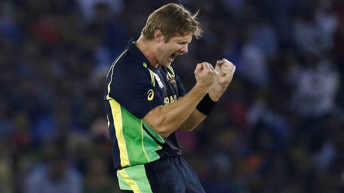 Australia's Shane Watson celebrates taking the wicket of India's Suresh Raina during the India vs Australia  World Twenty20 cricket tournament inMohali, India. (File photo: Reuters)