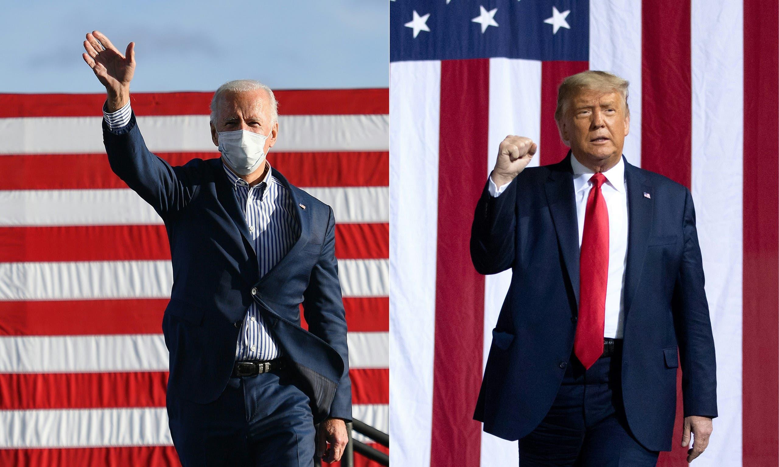 المرشحان للانتخابات الأميركية دونالد ترمب وجو بايدن (فرانس برس)