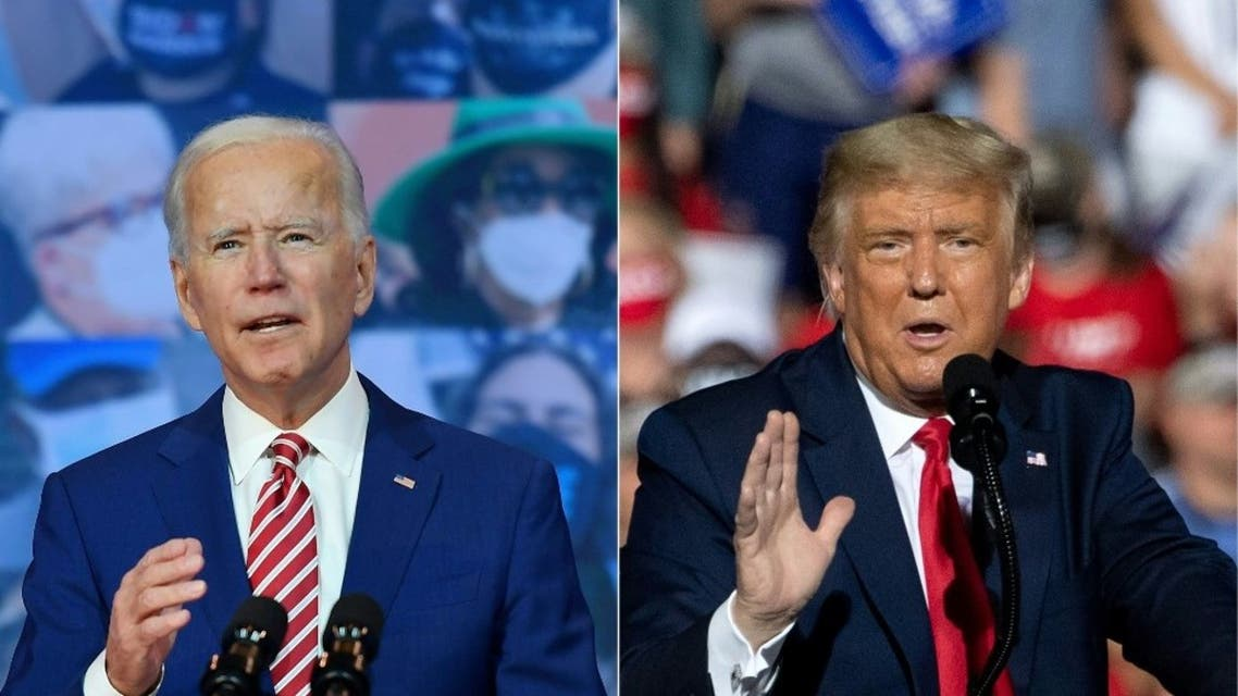 emocratic presidential nominee and former Vice President Joe Biden and US President Donald Trump. (AFP)