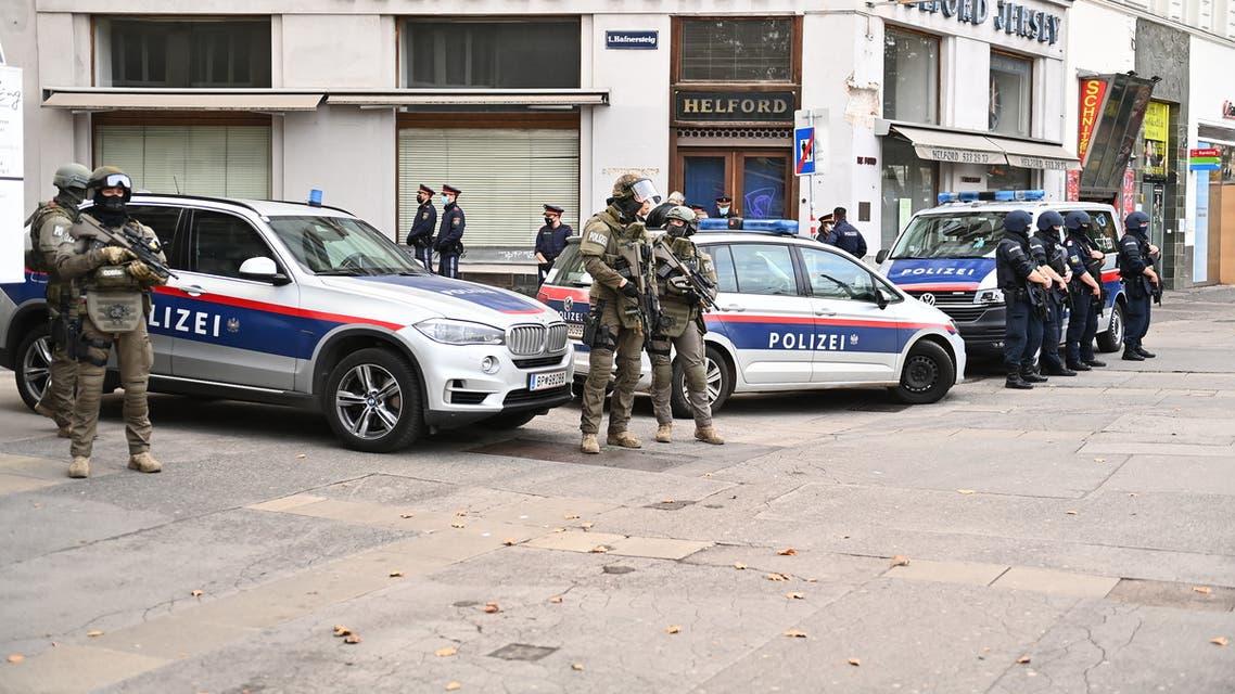 من موقع الهجوم في فيينا يوم 3 نوفمبر