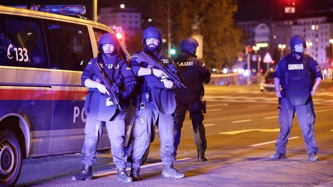 Police blocks a street near Schwedenplatz square after exchanges of gunfire in Vienna, Austria November 2, 2020. (Reuters/Lisi Niesner)