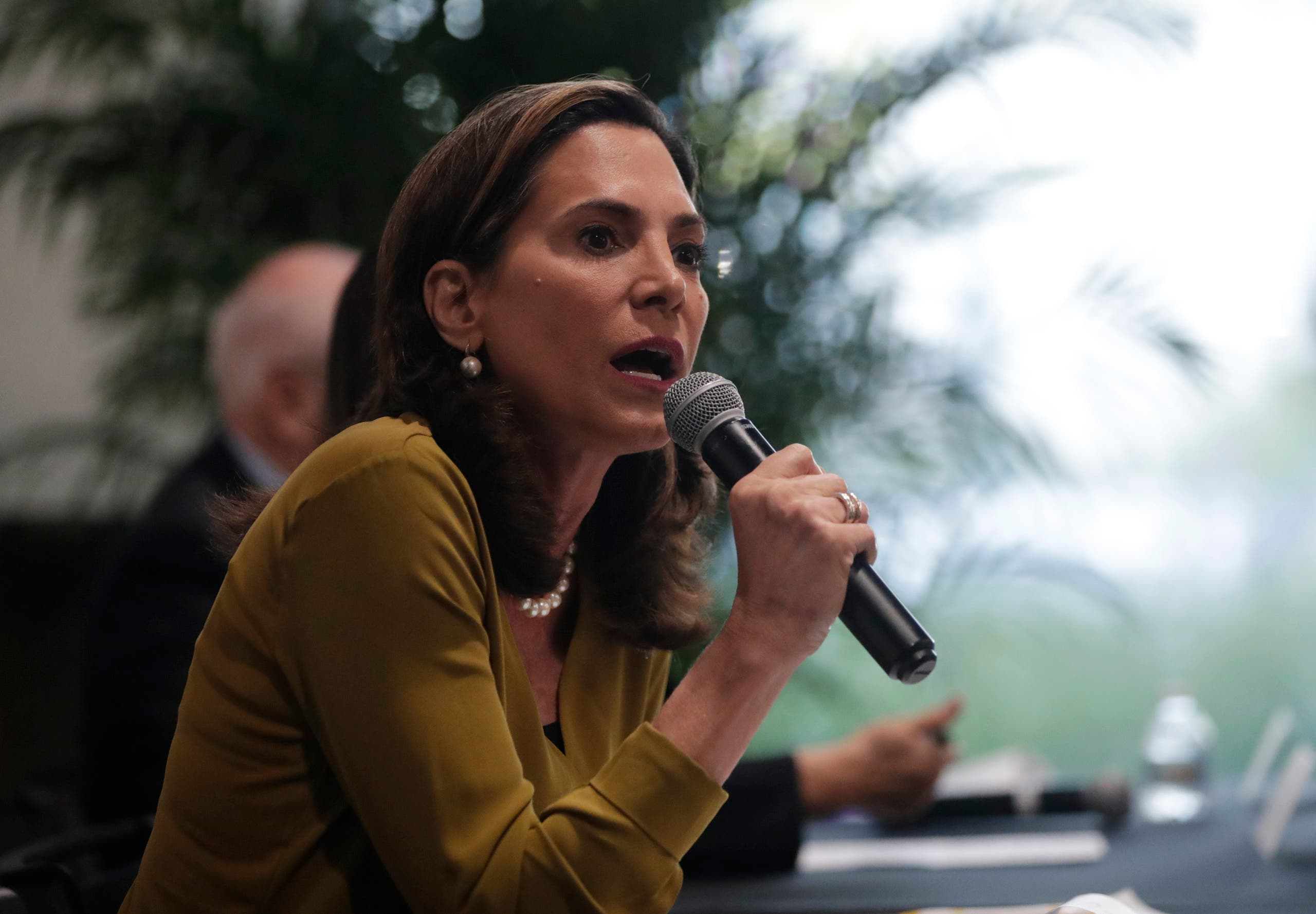 Florida Republican Maria Elvira Salazar speaks in Miami. (AP)