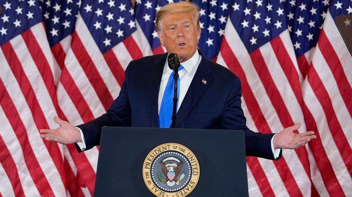 President Donald Trump speaks in the East Room of the White House, Nov. 4, 2020. (AP)