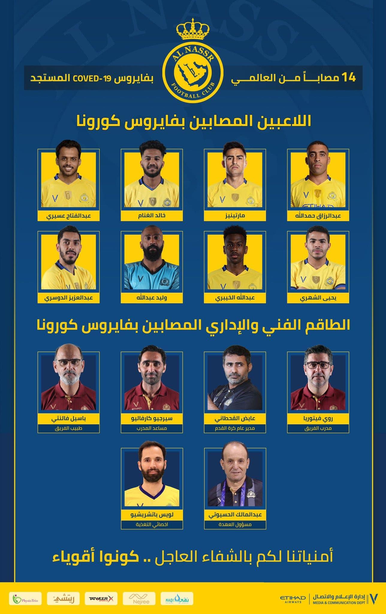 """صورة نشرها نادي النصر في حسابه على """"تويتر"""""""