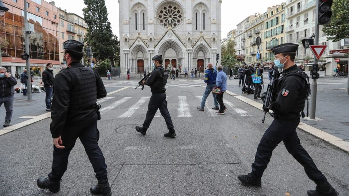 French gendarmes secure the area around the Notre-Dame de l'Assomption Basilica in Nice on October 31, 2020, two days after a knife attacker killed three peopleFrench gendarmes secure the area around the Notre-Dame de l'Assomption Basilica in Nice on October 31, 2020, two days after a knife attacker killed three people. (AFP)