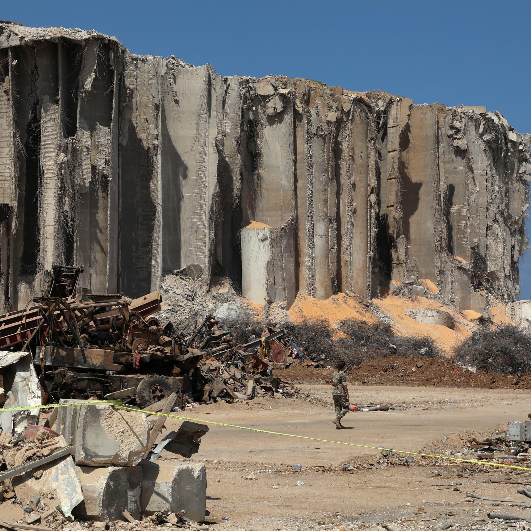 لبنان يقرر هدم صوامع الحبوب بعد تضررها بانفجار المرفأ