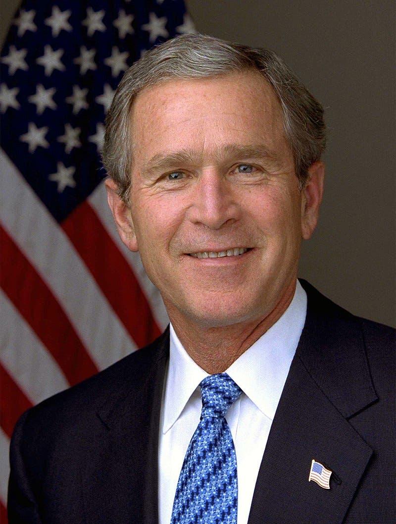 صورة للرئيس الأميركي جورج دبليو بوش