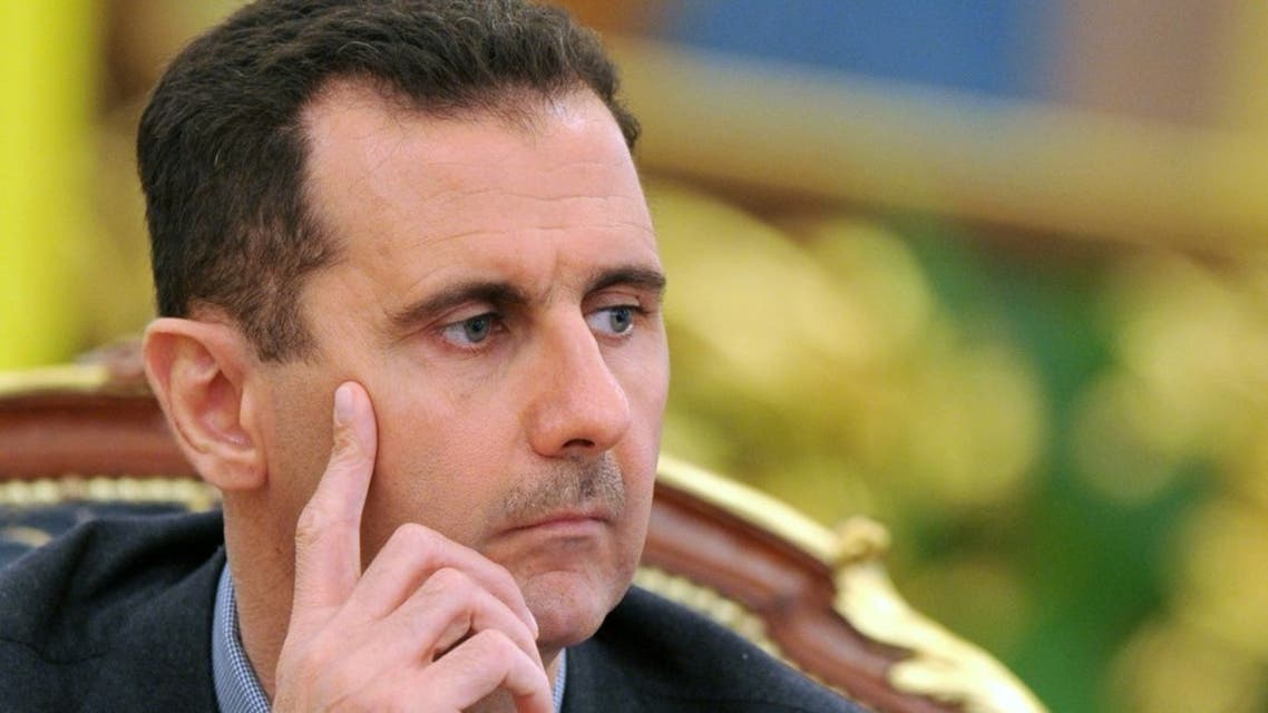 Syria's president Bashar al-Assad gives a press conference after talks with Ukraine's President Viktor Yanukovych on December 3, 2010 in Kiev. (AFP)