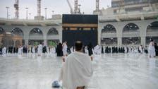 باران رحمت کے دوران بیت اللہ میں طواف کے ایمان پرور مناظر