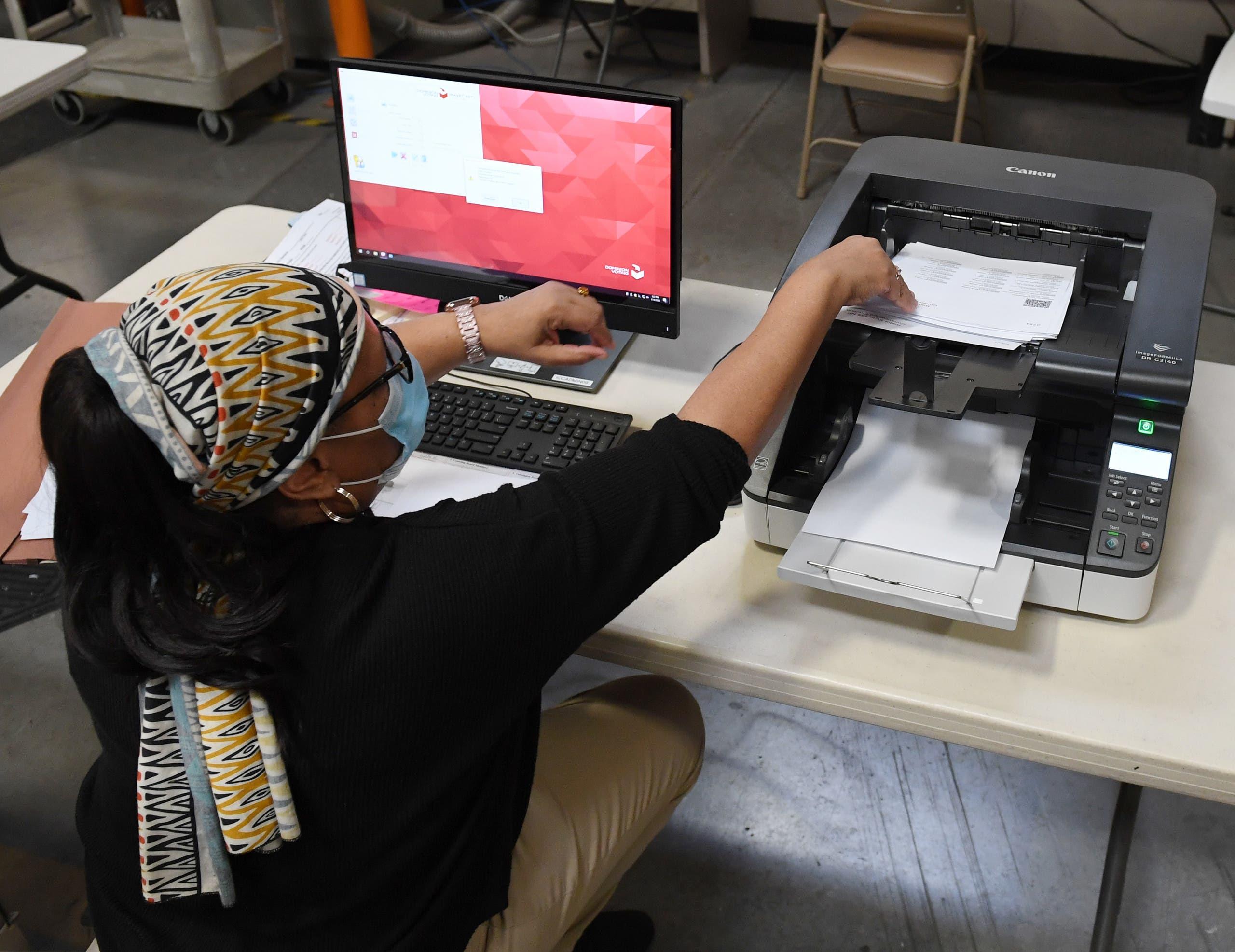 من عملية فرز الأصوات في نيفادا