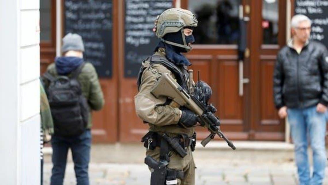 Vienna Policeman at the site of Gun attack