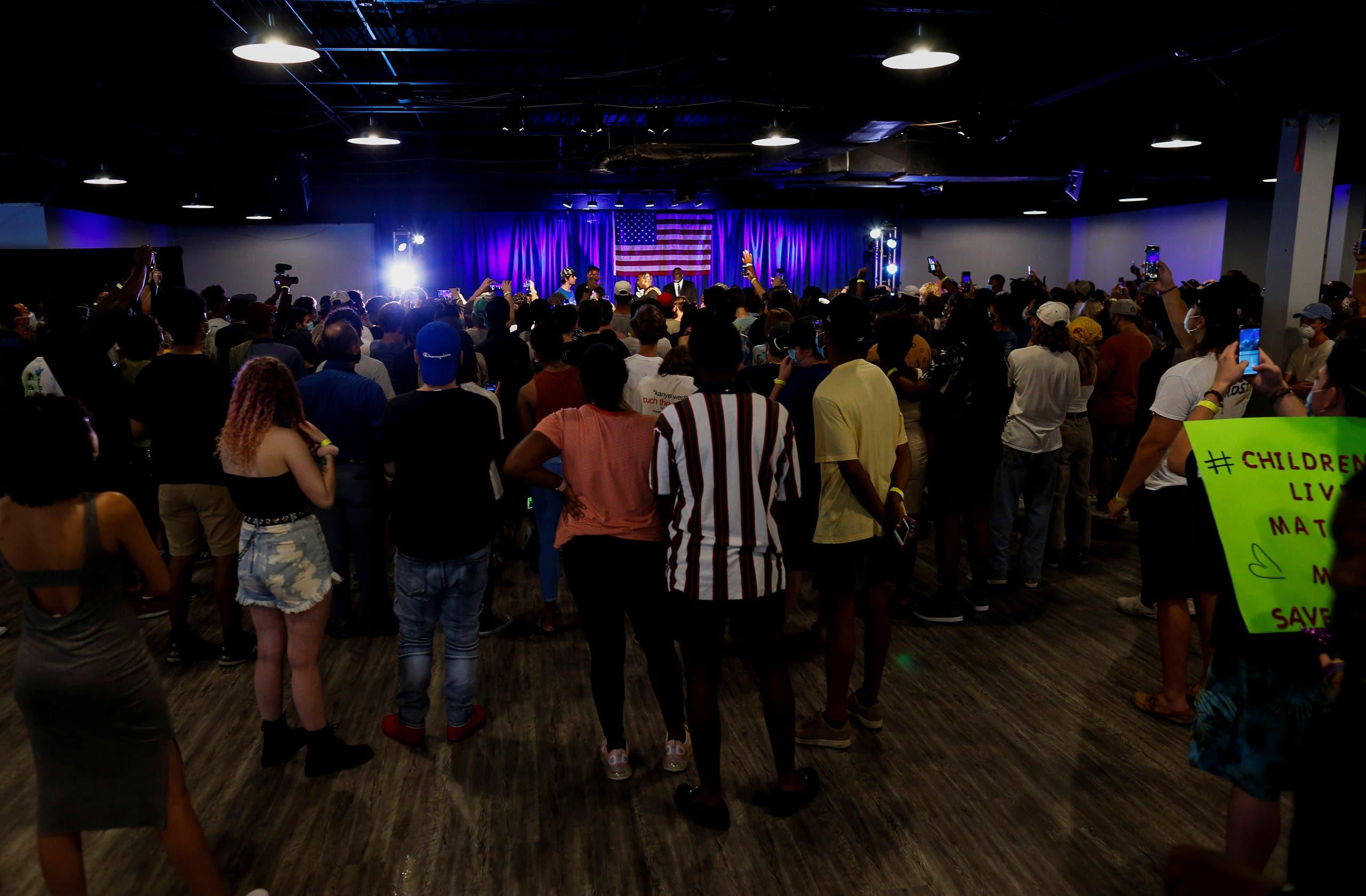 تجمّع انتخابي لويست في ساوث كارولاينا في يوليو الماضي