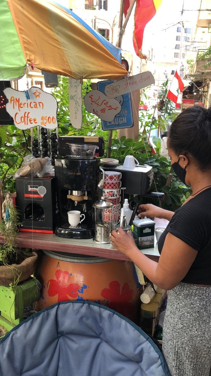 Coco Setargachew Hiowt, an Ethiopian woman who worked in Lebanon as a domestic worker has opened Café Coco. (Bassam Zaazaa)