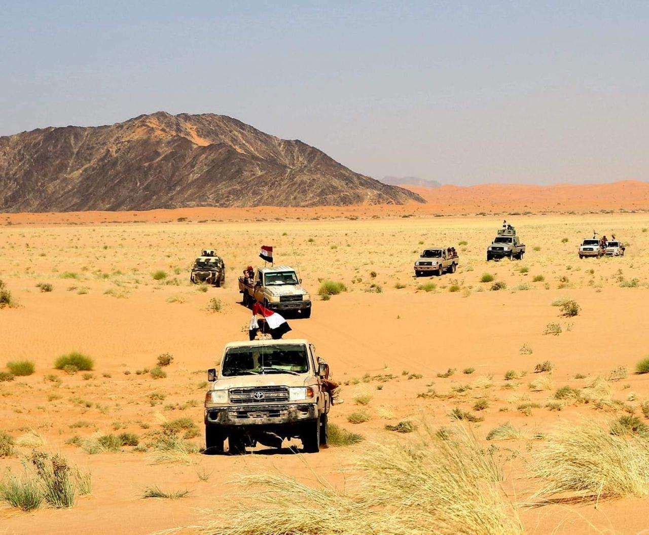 آليات عسكرية تابعة لـ الجيش اليمني
