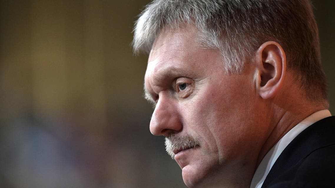 Kremlin spokesman Dmitry Peskov attends the annual end-of-year news conference of Russian President Vladimir Putin in Moscow, Russia December 19, 2019. Picture taken December 19, 2019. Sputnik/Alexei Nikolsky/Kremlin via REUTERS ATTENTION EDITORS - THIS IMAGE WAS PROVIDED BY A THIRD PARTY.