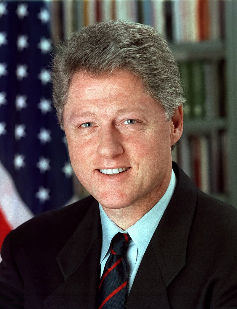 صورة للرئيس السابق بيل كلينتون
