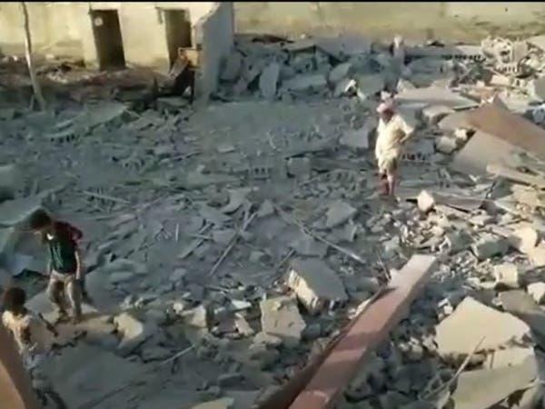 فيديو.. قصف صاروخي حوثي يدمر منازل مواطنين بالحديدة