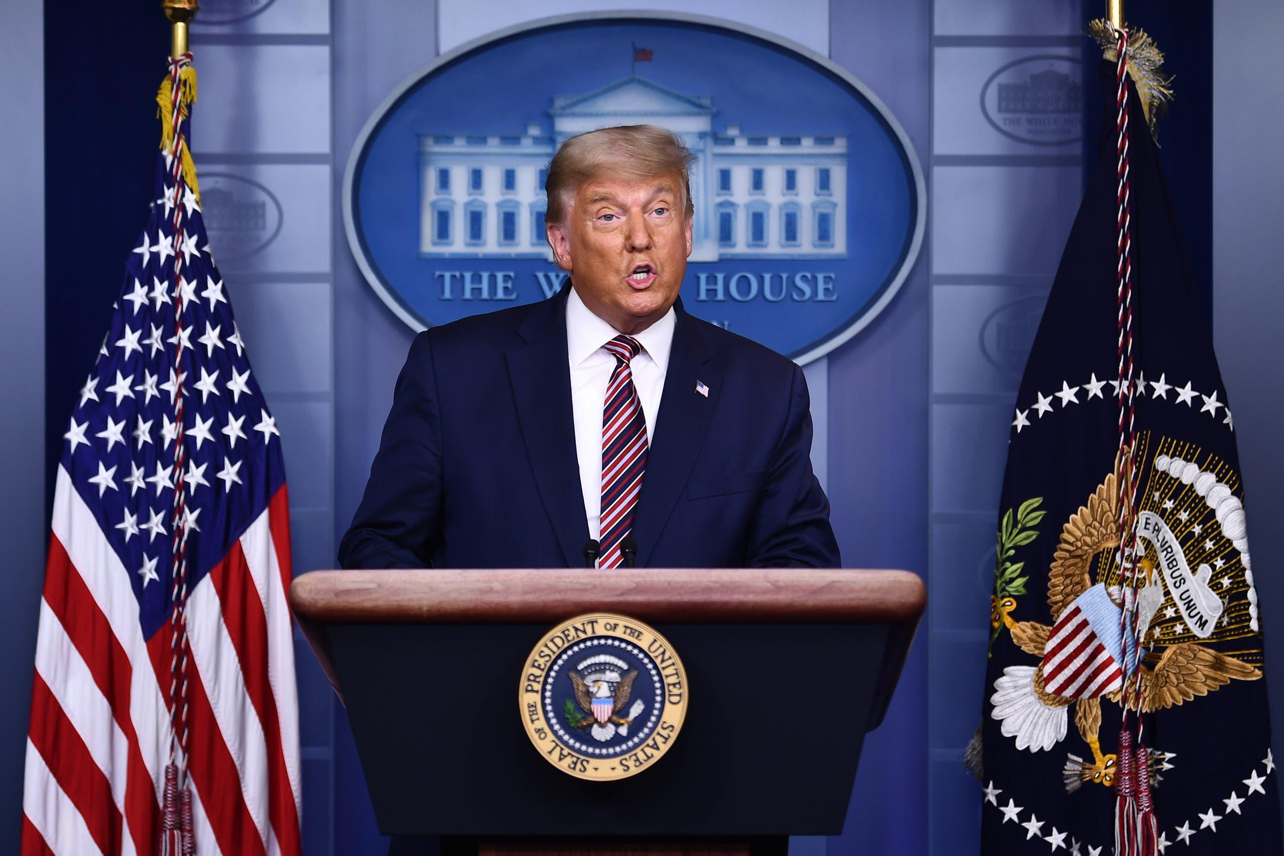 ترمب يدلي بخطاب من البيت الأبيض مساء الخميس