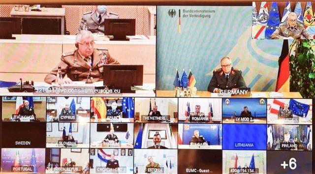من اجتماع اللجنة العسكرية للاتحاد الأوروبي الذي عُقد عن بُعد